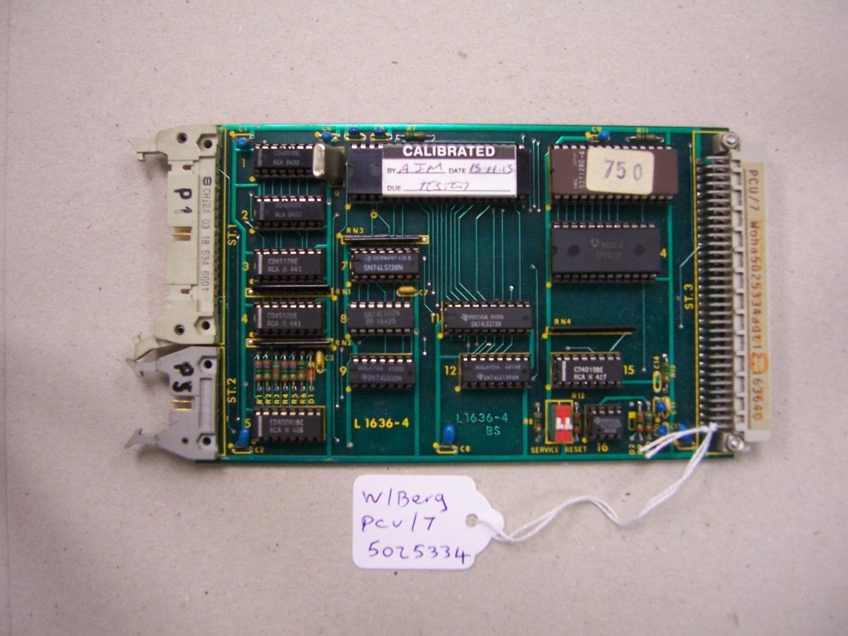 Wohlenberg PCU/7 Card