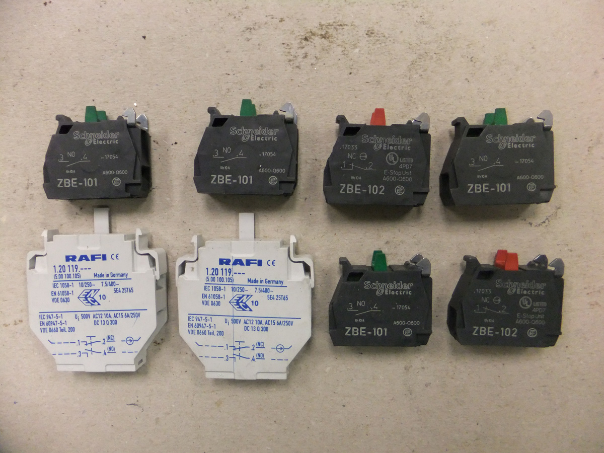 Schneider and RAFI Micro SWitches