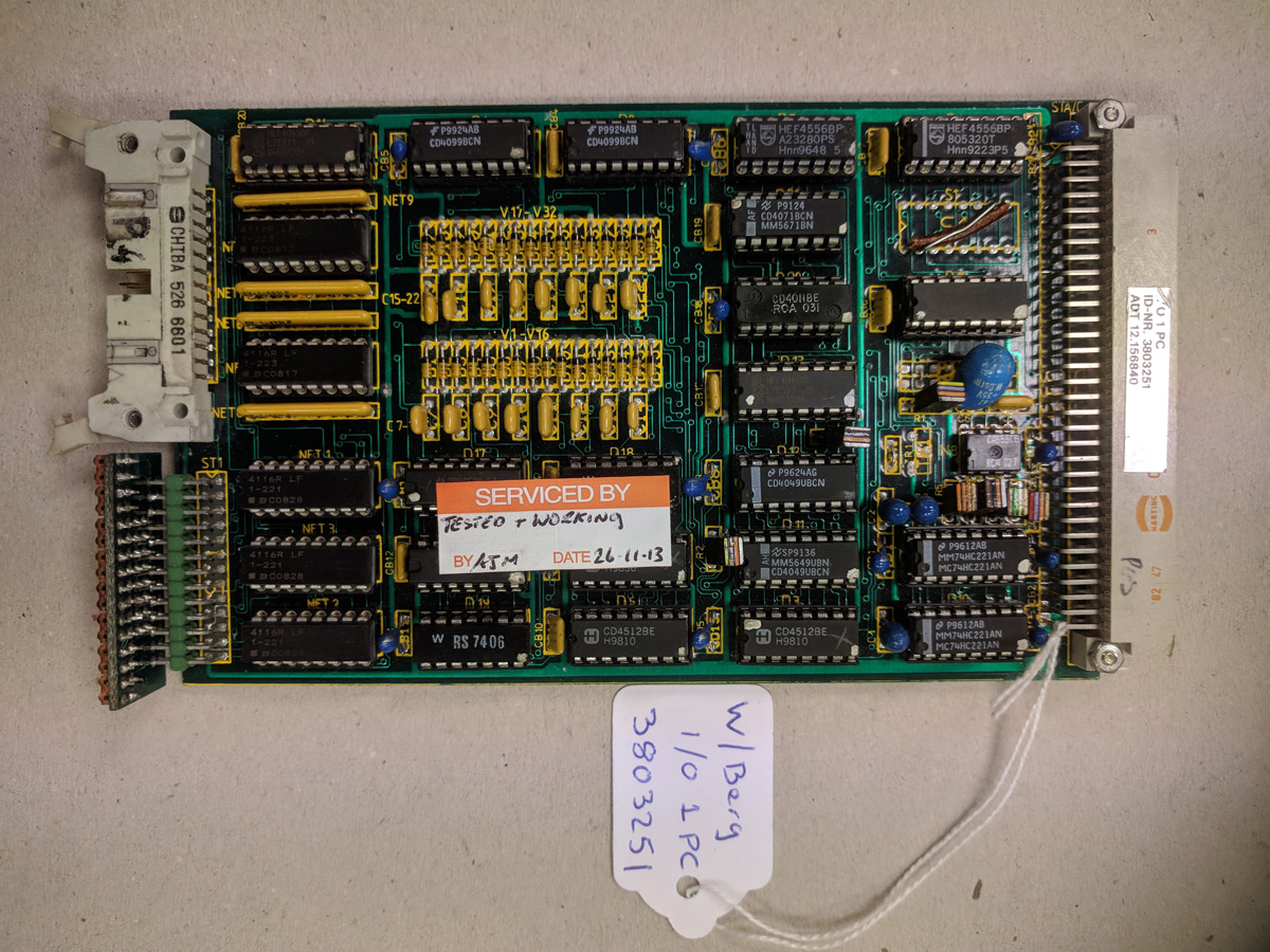 Wohlenberg I/O 1 PC Card