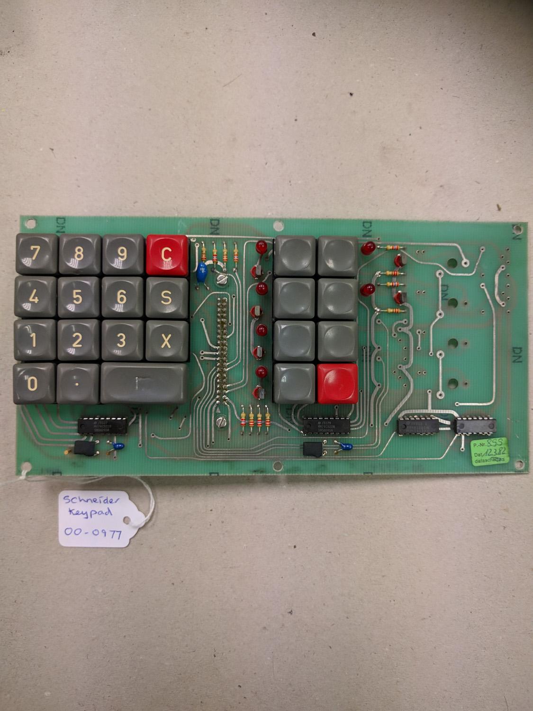 Schneider Keypad