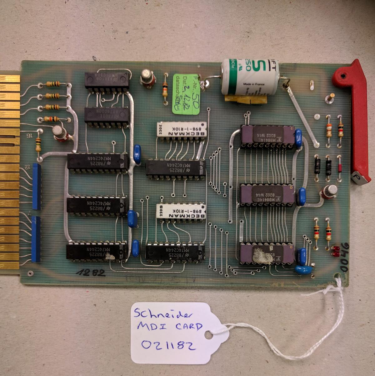 Schneider MDI Card